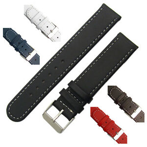 Leather-watch-strap-band-Contrast-Stitched-Choice-of-Colours-16mm-18mm-20mm-C001