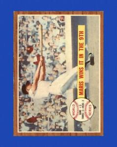 1962 Topps Set Break #234 Roger Maris WS3 EX-EXMINT *GMCARDS*