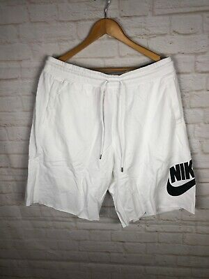 Nike Sportswear French Terry Logo Shorts White//Black Men/'s Size XL 836277-100