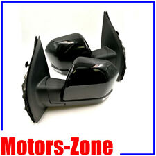 JZSUPER Towing Mirrors for Ford F150 Pickup Truck 2015 2016 2017 Chrome Cap Power Heated with Turn Signal 8 Pin Plug