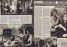 Coupure de presse Clipping 1960 Simone Signoret   (2 pages)