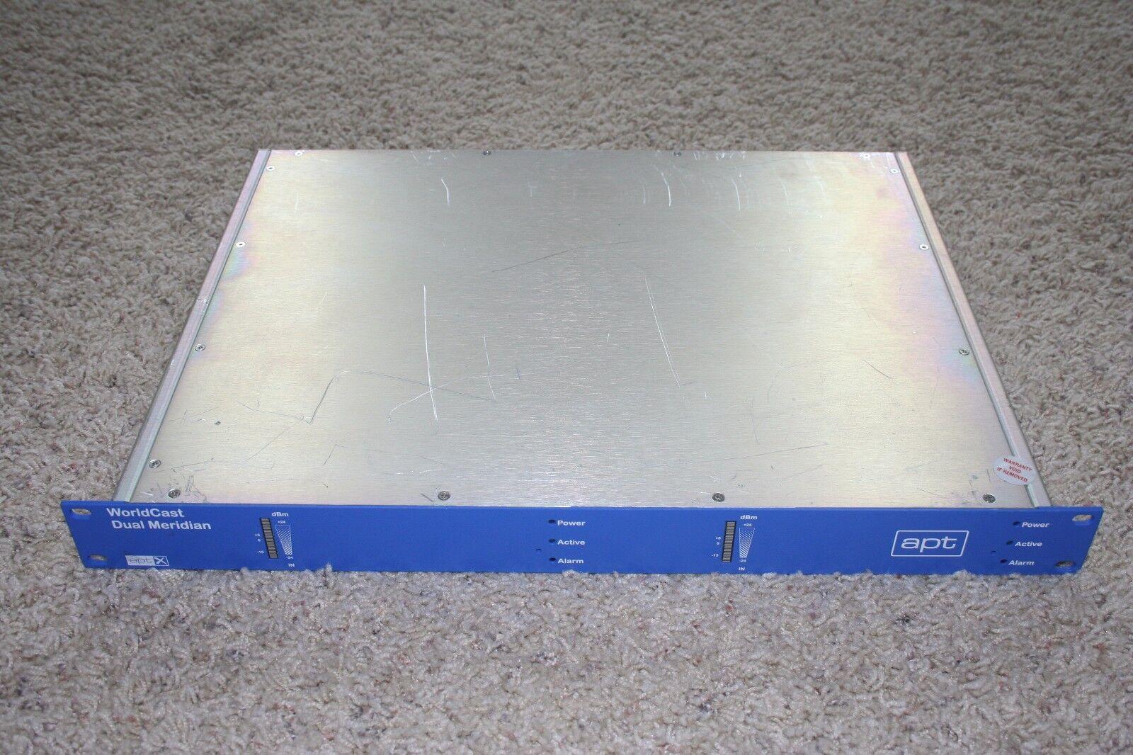 APT WorldCast Dual Meridian IP Network Audio Codec for X.21 (radio, broadcast)