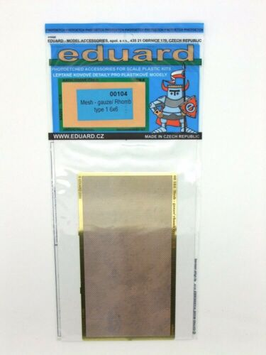 Eduard Accessories EDP00104 Mesh gauze//rhomb type 1 6x6