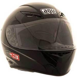 AGV K3 Black Full Face Sports Street Road Motorcycle Helmet | All Sizes