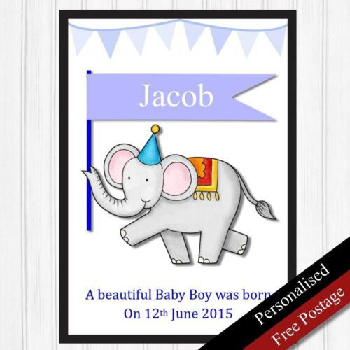 Newborn Baby Personalised Gift for Boy PRINT ONLY Baby Birth Keepsake New born