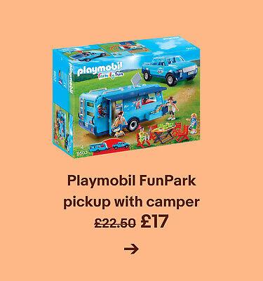 Playmobil FunPark pickup with camper