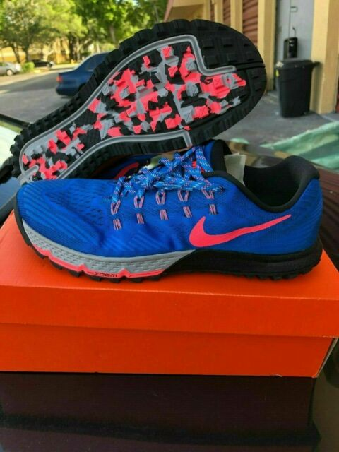 bd5f76d8a65 MEN'S NIKE AIR ZOOM TERRA KIGER 3 749334 403 BLUE RUNNING SHOES SIZE 10.5  11 12