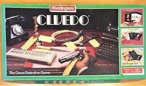 Waddingtons-CLUEDO-Classic-Detective-Board-Game-Original-1983-Edition-Vintage