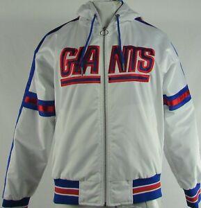 New-York-Giants-NFL-Starter-Women-039-s-White-Full-Zip-Hoodie