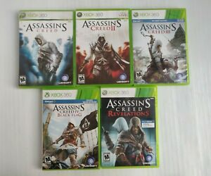 XBOX 360 ASSASSIN'S CREED Games  Lot Of 5 Complete Games