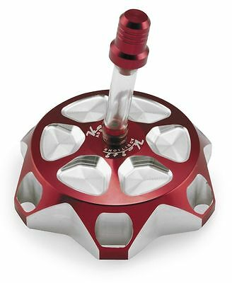 Keiti - GC101R - CNC Billet Gas Cap, Red~