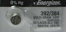 Energizer 392 384 Button Cell Watch 1.55V Battery 1 Pc