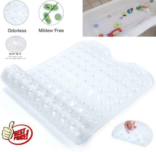 Bath Tub Mat Non-Slip Shower Mats w// Suction Cups Machine Washable 40x16 Inches