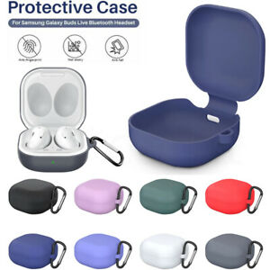 For Samsung Galaxy Buds Live / Live Pro Case Silicone Protective Cover +Keychain