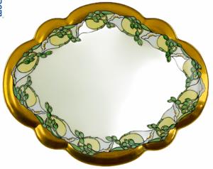 Antique-Porcelain-Vanity-Tray-France-Signed-Stoddard-Dated-1914-Art-Nouveau-11in
