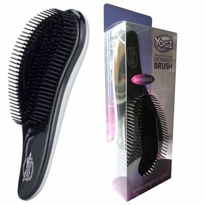 Yogi Silver Teardrop Design Detangle Tangle Free Hair Teaser Brush Comfort Grip