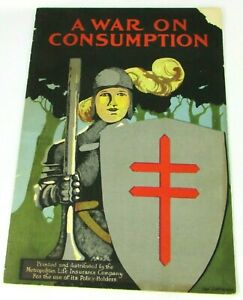 1921 VTG Booklet A War On Consumption Illustrated Metropolitan Life Knight Cover