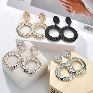 Fashion-Women-Irregular-Round-earrings-Drop-Dangle-Stud-Earring-Jewelry