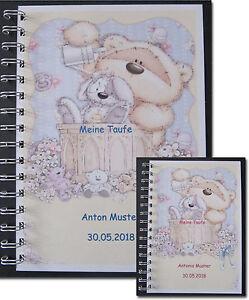 Gaestebuch-Taufe-Baerchen-beige-A5-Geschenk-Baby-Paten-Eltern-Grosseltern