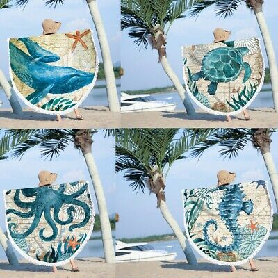 UKRound Large Beach Mat Bohemian Mandala Tapestry Travel Home Yoga Mat Swimming