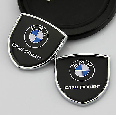 2x Shield Auto Car body Left Right Emblems Sticker Decal Badge fit for Black NEW