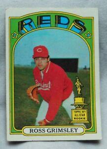 Details About 1972 Topps Ross Grimsley Cincinnati Reds 99 Baseball Card Ex