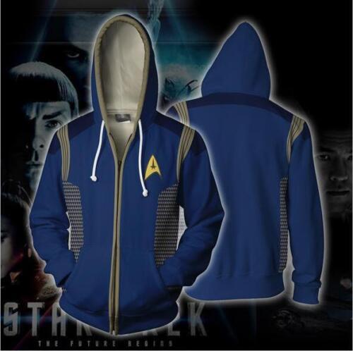 Star Trek Discovery Captain Lorca Zipper hoodie Sweatshirt Cosplay Costume F.159