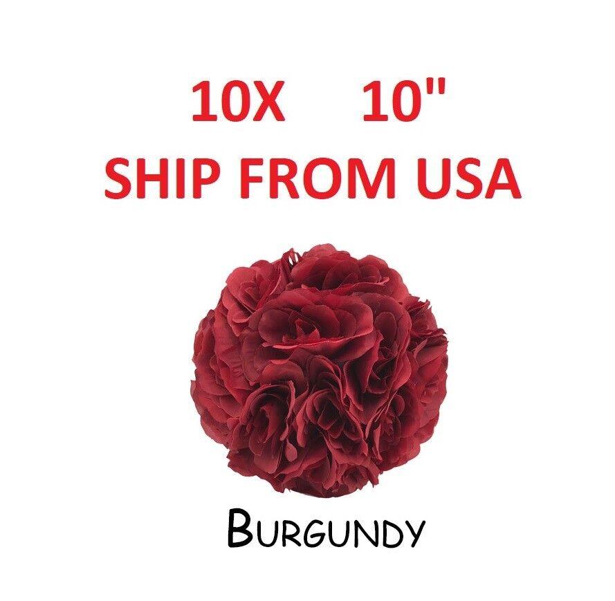 10X fleur boule made Kissing Ball Pomander florale Décoration Pièce Centrale Bourgogne