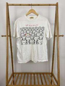 RARE-Sandra-Boynton-One-In-A-Million-Stand-Out-White-Single-Stitch-T-Shirt-XL