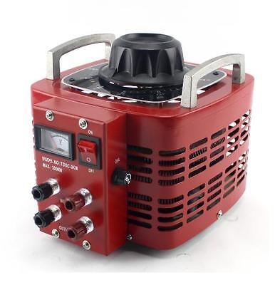 Variac Variable AC Power Transformer 0-130 VAC with Meter (TDGC-3KM) Max.30 amp