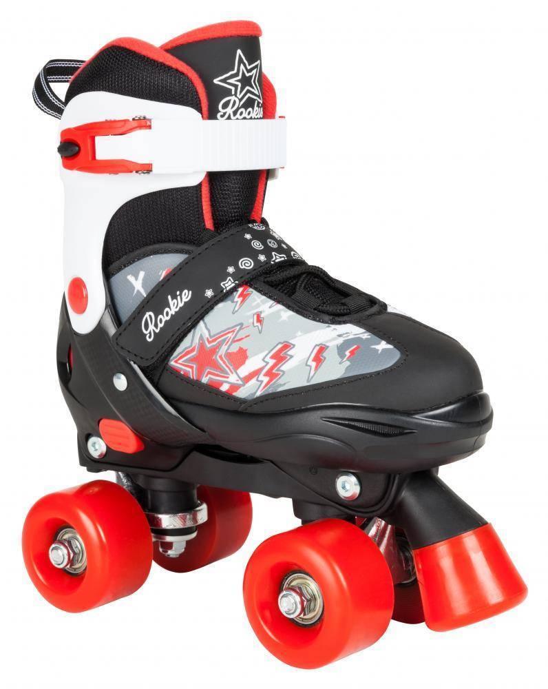 Rookie ACE Junior Junior ACE Plus verstellbare Rollschuhe Kinder schwarz-rot-weiß NEU 87984 6ca7d3
