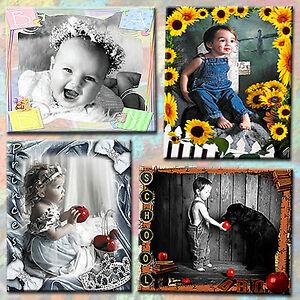 Digital Photography Backdrops Backgrounds Photoshop Templates for Children 1E