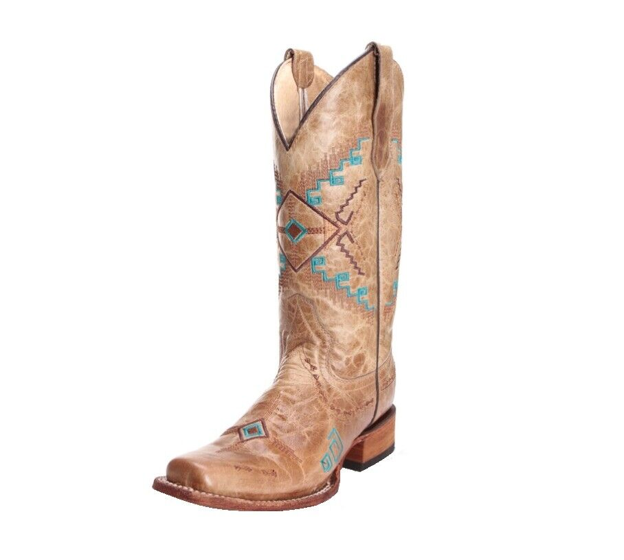 Circle G By Corral Women's Embroidered Cowgirl Western Boots Bone L5297