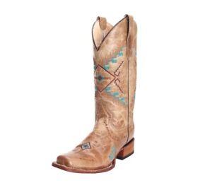 Circle dames Corral cowgirl Bone By Western Geborduurde G voor Boots L5297 b6fY7gy