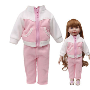 Fashion-Sportswear-Set-For-18-Inch-American-Doll-Clothes-Accessory-Girl-039-s-Toy
