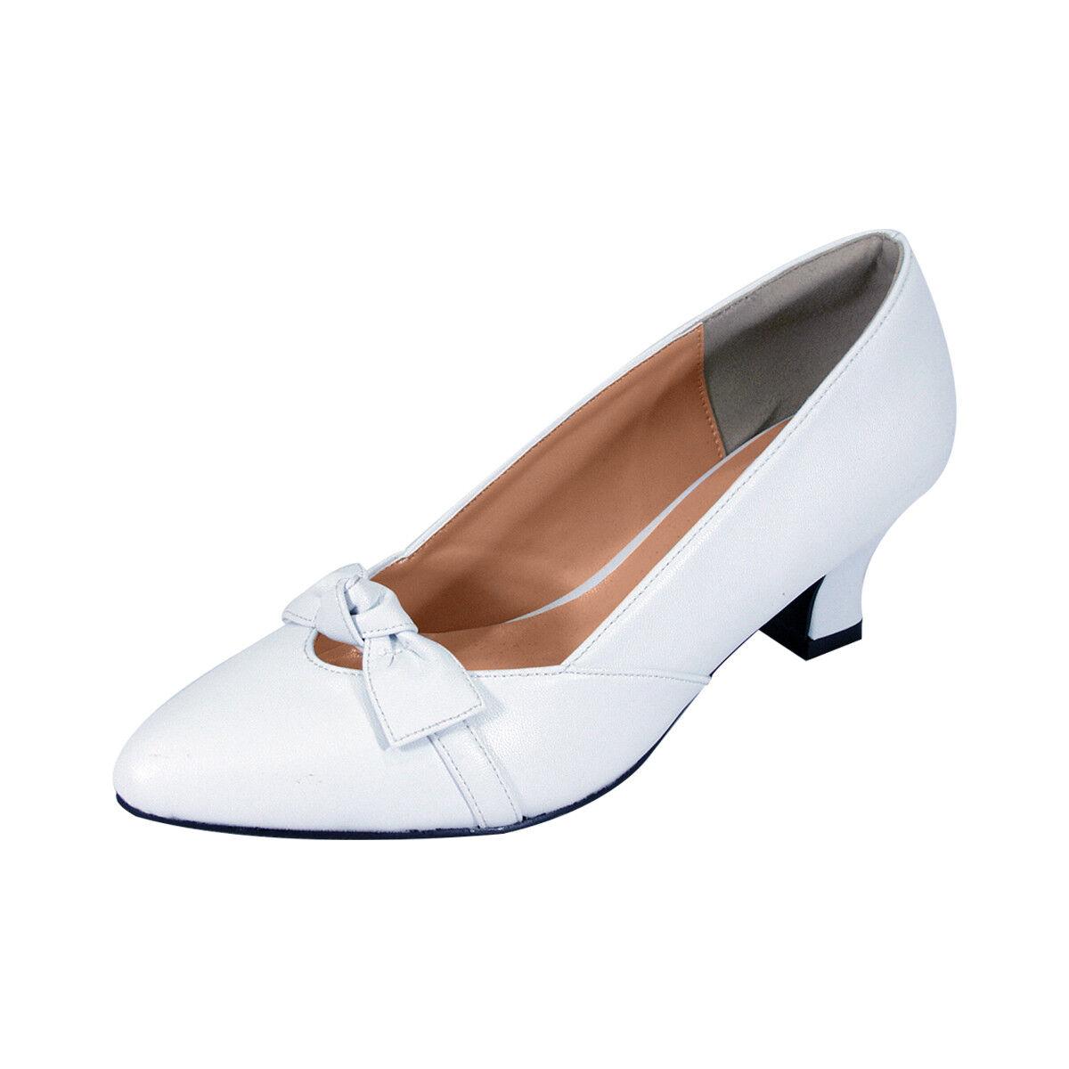 PEERAGE Belle Wouomo Wide Width Elegant Bow Accented Dress Dress Dress Pump e85c79