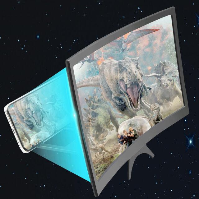 "3D Screen Amplifier Phone Mobile 12""HD Stereoscopic Folding Bracket Magnifier🛫"