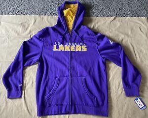 Los Angeles Lakers Adidas Zip Up Hoodie Jacket Purple Size Xl New Ebay