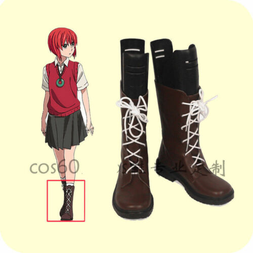 New The Ancient Magus/' Bride Chise Hatori Cosplay Shoes Boots custom AA.1101