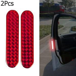 Lamp-Decal-Alarm-Car-Reflective-Strips-Safety-Mark-Door-Sticker-Warning-Tape