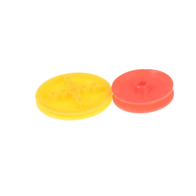 7PCS Motor Synchronous Belt Plastic Pulley Wheel for DIY Toy Car Accessories 3C