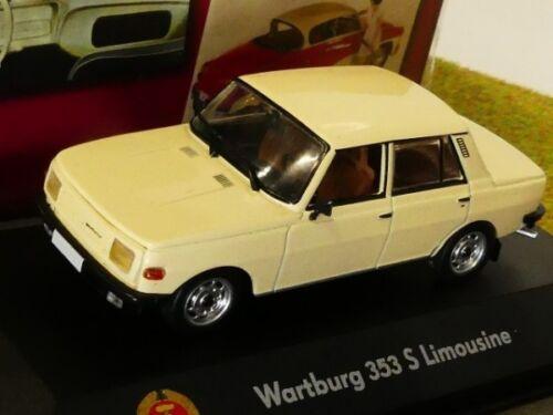 1//43 atlas RDA auto colección Wartburg 353 s Limousine beige 7230 029