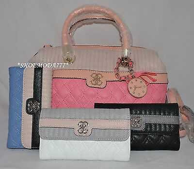 GUESS Merci Bag Sac a Main Portefeuille Lot Cuir Synthetique Charme Matelassé | eBay