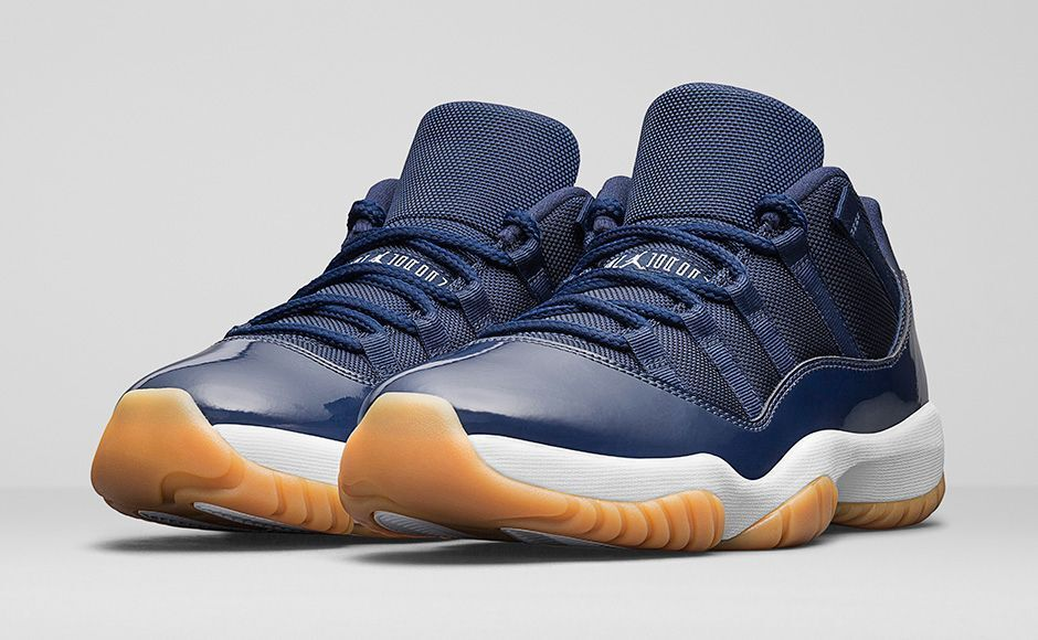 2016 NIKE AIR JORDAN 11 RETRO LOW MIDNIGHT NAVY blueE GUM ALL SIZES UK 7-10 NEW