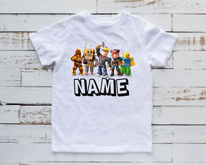 Personalised Kids Roblox T-Shirt Children's Gaming Funny Gamer Top Tee New Gift