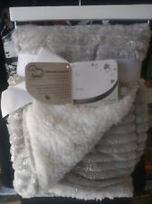 "30/"" x 40/"" New Born Loved Soft Baby Blanket Plush Gray Silver White"