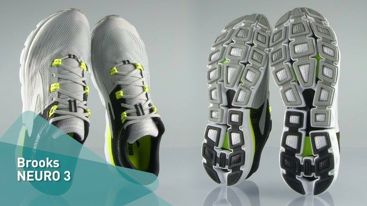 BROOKS NEURO 3 MENS NEUTRAL LIGHT RACE RUNNING GYM TRAINERS SHOES UK 7.5 8