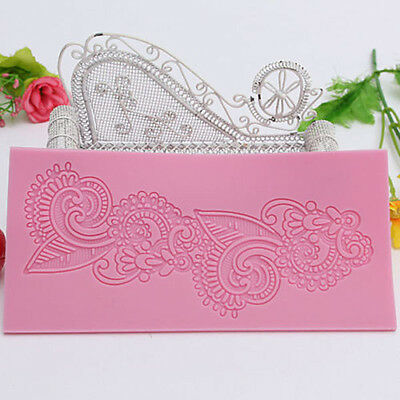 Silicone Lace Flower Mat Mold Cake Fondant Mould Baking Paste Decorating Tool CN
