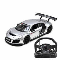 Audi R8 Rc Remote Control 1:18 Scale R/c Steering Wheel Controlled Car – Silver
