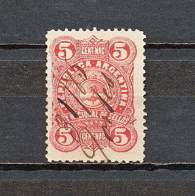 Nnbj 088 Argentina Revenue 1885 Used To Ensure A Like-New Appearance Indefinably Stamps